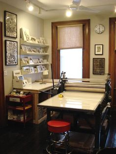 I will have a printing studio in my home some day.