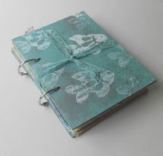 Beach Journal smash book junk scrapbook by ThenandThere on Etsy, $16.00