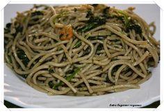 Entre fogones veganos: Espaguetis de albahaca con espinacas