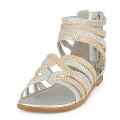 Girls Glitter Gladiator Sandal