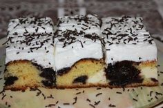 Výborný koláč s tvarohom a slivkovým lekvárom, Koláče, recept | Naničmama.sk Nutella, Tiramisu, Cheesecake, Food And Drink, Pudding, Treats, Baking, Ethnic Recipes, Sweet