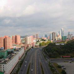 Pyongyang, the capital city. Capital City, Asia Travel, Seattle Skyline, San Francisco Skyline