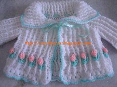 Croche e Cia: Receita do casaquinho de bebê