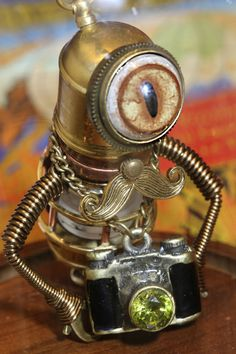 Steampunk Minion Robot Photographer by CatherinetteRings.deviantart.com on @deviantART