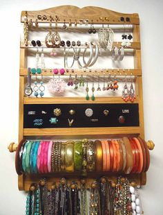 23 DIY Ring Earring Jewelry Organizer Jennifer jones Organizing