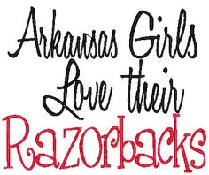 I was going to start tagging all of you Razorback fans on here following me, but there are so many of you..heh