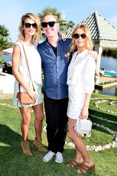 Rosie Huntington-Whiteley, Stuart Vevers, and Kate Bosworth at Coach Backstage at Soho Desert House - Coachella Day One 2015 | Sup3rb