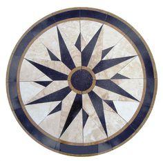 Details about Floor medallion marble mosaic nautical compass travertine tile 24 Medallion US - Marble Bathroom Floor Marble Mosaic, Marble Floor, Mosaic Glass, Mosaic Tiles, Tile Floor, Marble Design Floor, Tile Design, Design 24, Art Tiles