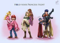 Hold Your Princess Tight - artist unknown - ... O_o