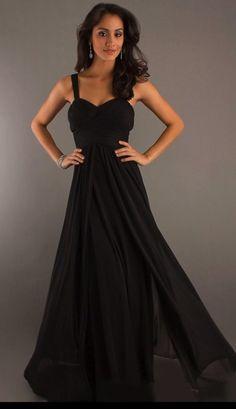 custom made with straps floor-length chiffon bridesmaid dress