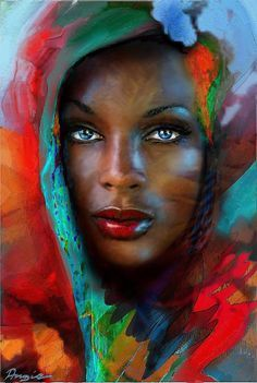 """Black Art African American Woman www. (c) SHOPS: www. * ___________________ :) if you like my art, please let it count on my pages, click """"LIKE"""" and invite your friends ^_^ thank you :* www. Art And Illustration, Illustrations, African American Art, African Art, American Women, African Paintings, Tribal African, African History, African Beauty"""