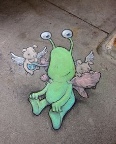 Chalk artist David Zinn (8/3/2013)