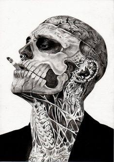 Skull face Skulls and Ink on Pinterest