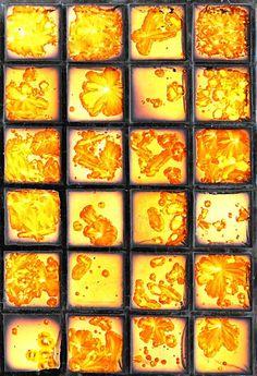 Sunburst Glass Block Tile Wallpaper