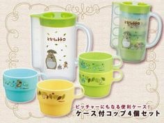 Totoro Case with cup 4 Cups Studio Ghibli JAPAN in Collectibles   eBay