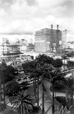 1937- Foto Lévi-Strauss - Construção do Edifício Matarazzo