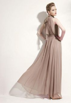 High-neck Sleeveless Halter Lace Up Pleated Solid Bohemian Dress f8d281d4c