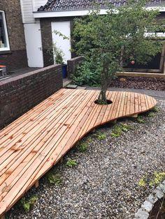 Douglas vlonder, planken in diverse breedtes voor een speel effect. Deck, Front Porches, Decks, Decoration