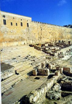 Archaeological excavations of the southern wall of the temple mount in Jerusalem Ancient Ruins, Ancient History, European History, Ancient Artifacts, Ancient Greece, Ancient Egypt, American History, Terra Santa, Israel History