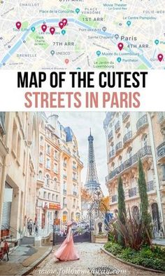 10 Of The Most Charming Streets In Paris + Map To Find Them Places to travel 2019 France travel tips Paris Travel Guide, Europe Travel Tips, Places To Travel, Traveling Tips, European Travel, Euro Travel, Budget Travel, European Vacation, Backpacking Tips