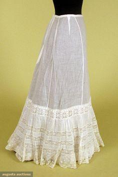 White Cotton & Lace Petticoat, C. 1900, Augusta Auctions, November, 2007 -Tasha Tudor Historic Costume Collection, Lot 372