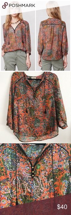 """Edme & Esyllte Niya Peasant Top Anthropologie Edme & Esyllte Niya Peasant Top 
