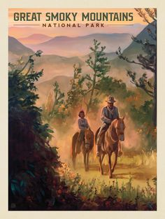 Anderson Design Group – American National Parks – Great Smoky Mountains National Park: Horseback Riding