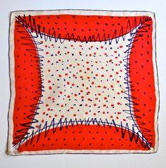 0038b5ce7c46 Vera 1950 s Confetti-like silk geometric design scarf by VeraTown Foulard,  Soie Peinte,