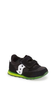 Free shipping and returns on Saucony 'Jazz' Hook & Loop Sneaker (Baby, Walker & Toddler) at Nordstrom.com. Suede overlays detail a stylish sneaker outfitted with a flexible, well-tractioned sole. Hook-and-loop closure ensures a secure, comfy fit.