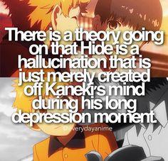 Hide nooooooooo #animefacts tokyo ghoul << Well he did seem too good to be true.