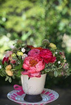 Coisas da Léia: Arranjos florais em xícaras