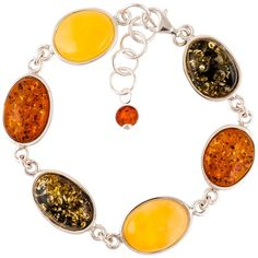 Be-Jewelled Mixed Amber Sterling Silver Bracelet ($270) ❤ liked on Polyvore featuring jewelry, bracelets, amber bangle, adjustable bangles, sterling silver adjustable bangle, jewels jewelry and amber jewelry