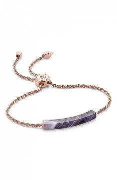 Aisle Society Holiday Gift Guide #ad - Amethyst stone bracelet
