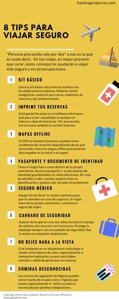 8 Tips para viajar seguro | Hashtag#viajeros