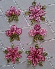 iğne oyası (3) Hand Embroidery Videos, Hand Embroidery Designs, Needle Tatting, Needle Lace, Smocking Patterns, Baby Knitting Patterns, Crochet Sunflower, Crochet Flowers, Crochet Motifs