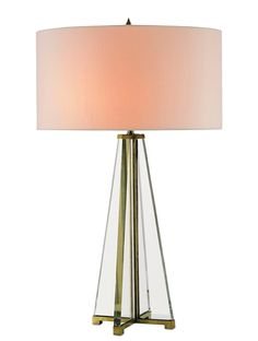 """Helena Table Lamp - Height 76cm including shadeOptic crystal lamp with brass detailsShade sold seperately Recommended shade 18"""" drum or oval"""