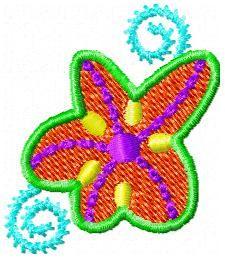 FSF- Funky, Groovy, Hippy Flowers - Monogram Font 40