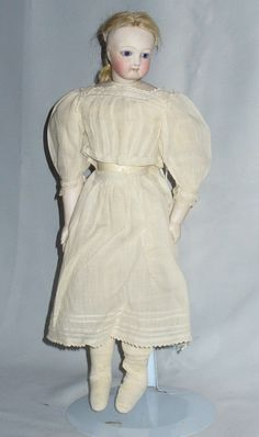 Antique French Doll Parian Bisque Head Mouth Closed Troussau Ball Gown 1860 | eBay