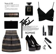 """""""Contest"""" by bb123456789 ❤ liked on Polyvore featuring Bobbi Brown Cosmetics, NARS Cosmetics, Forever 21, Charlotte Olympia and Chanel"""