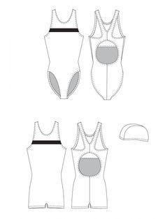 Jalie 971 - Swimsuit, Leg Suit and Swim Cap Pattern