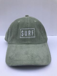 cfdb4ccc8f9ff9 CORDUROY SURF DAD HAT WITH SURF LOGO STITCHED ON THE FRONT. 100% COTTON