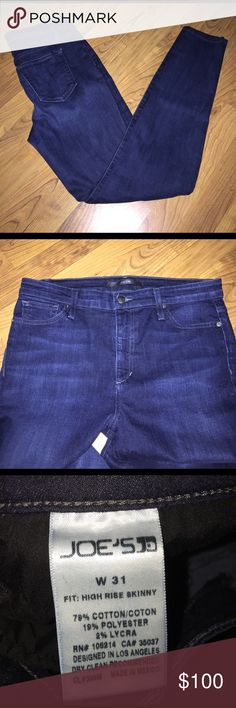 Joe's Jeans Dark denim Joe's Jeans. Size 31 with an inseam approximately 31. Really cute! Joe's Jeans Jeans Skinny