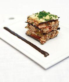 Milhojas de berenjenas y atún #cuisine #recipes