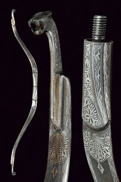 A decorated steel bow, India circa 1900