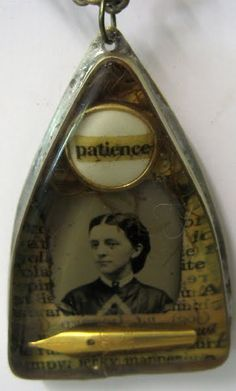 Hand made and soldered bezel with old tin type image and Ice resin