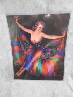 """Large Rolf Armstrong Pin Up Calendar Top Or Print 16"""" X 19.5"""""""