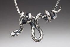 Silver Snake Necklace Vine Snake Pendant Snake Jewelry Snake Charm Serpent Jewelry Serpent Necklace Silver Snake Animal Jewelry Reptile Snake is 1 long Snake Necklace, Snake Jewelry, Animal Jewelry, Pendant Necklace, Onyx Necklace, Pendant Jewelry, Silver Necklaces, Silver Jewelry, Jewelry Necklaces