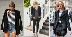 Once a stalwart of yummy mummies, the blazer and stripes combo has had a glam makeover, with fashionistas everywhere sporting the comfortable and versatile pairing. Our Instagrams are constantly filled with card-carrying members of the style set rocking a Breton with a tailored blazer, emulating French-girl chic whilst looking appropriate for all occasions.