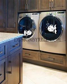 Image result for vinyl decals on washer and dryer