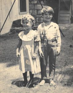 Shirley Temple and Delmar Watson,1933.